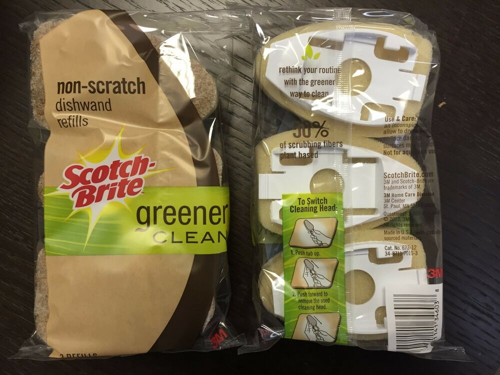 Scotch-brite Dishwand Soap Despensing Heavy Duty Refills Choose Amount Bfr Other Home Cleaning Supplies Home & Garden