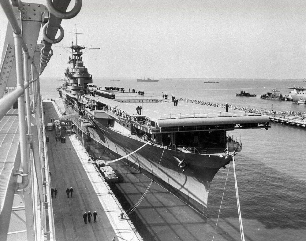 ww2 photo wwii uss hornet cv