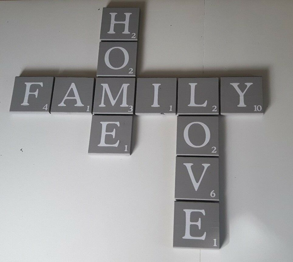 scrabble buchstaben gro 12 x12 cm als wanddeko a z ebay. Black Bedroom Furniture Sets. Home Design Ideas
