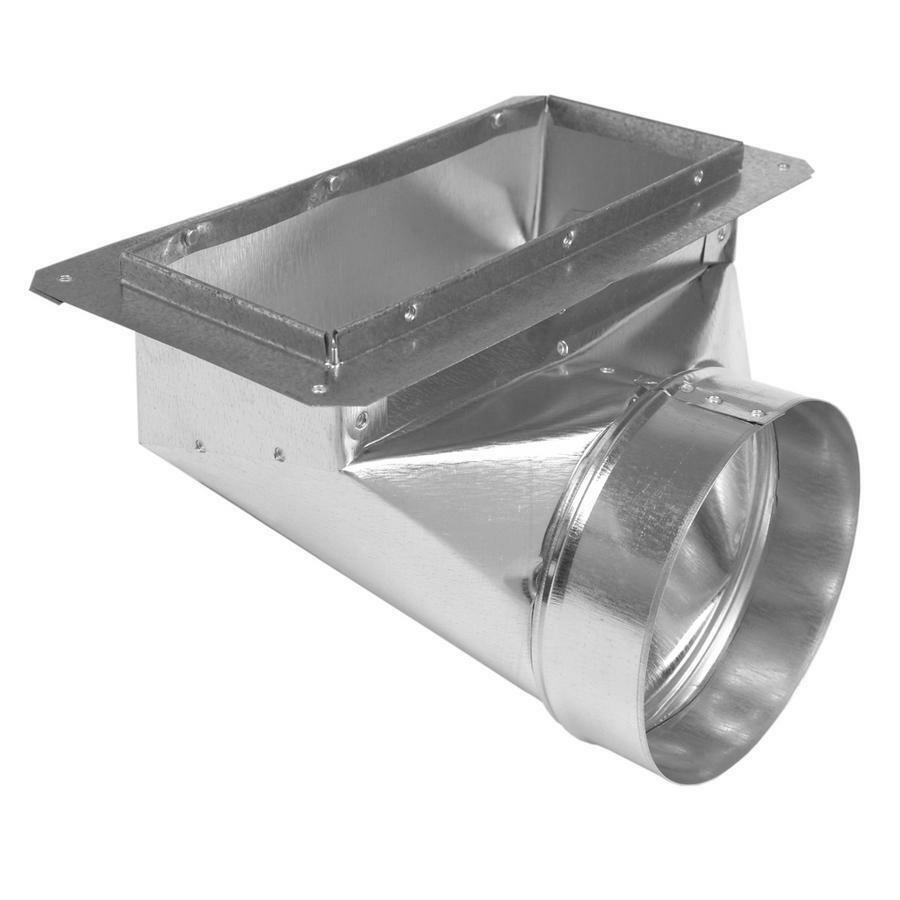 "Air Duct Angle Boot Flange 6"" X 14"" X 8"" Round Galvanized"