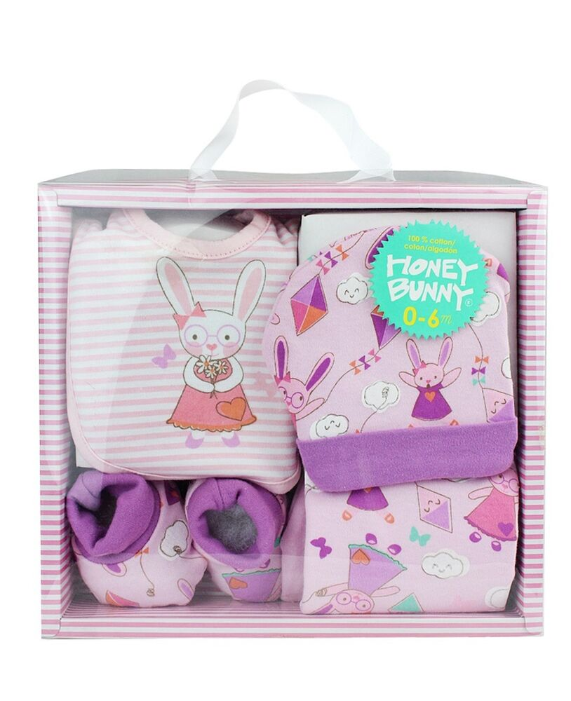 Baby Gift Set Packaging : Newborn bunny gift set five piece baby girls lilac in
