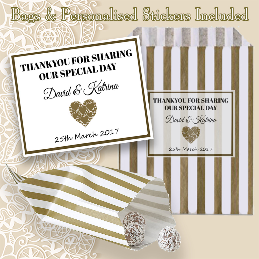 Personalised Wedding Table Gifts : Personalised Wedding Favour Sweet Striped Candy Bags Table Decoration ...