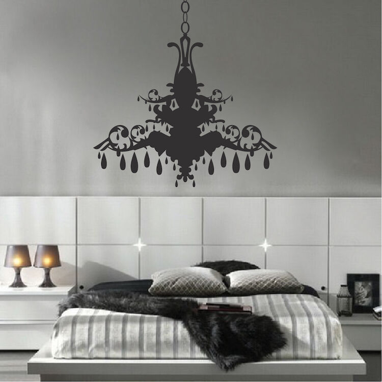 Details About Chandelier Wall Art Sticker Dining Room Decals Fancy A66