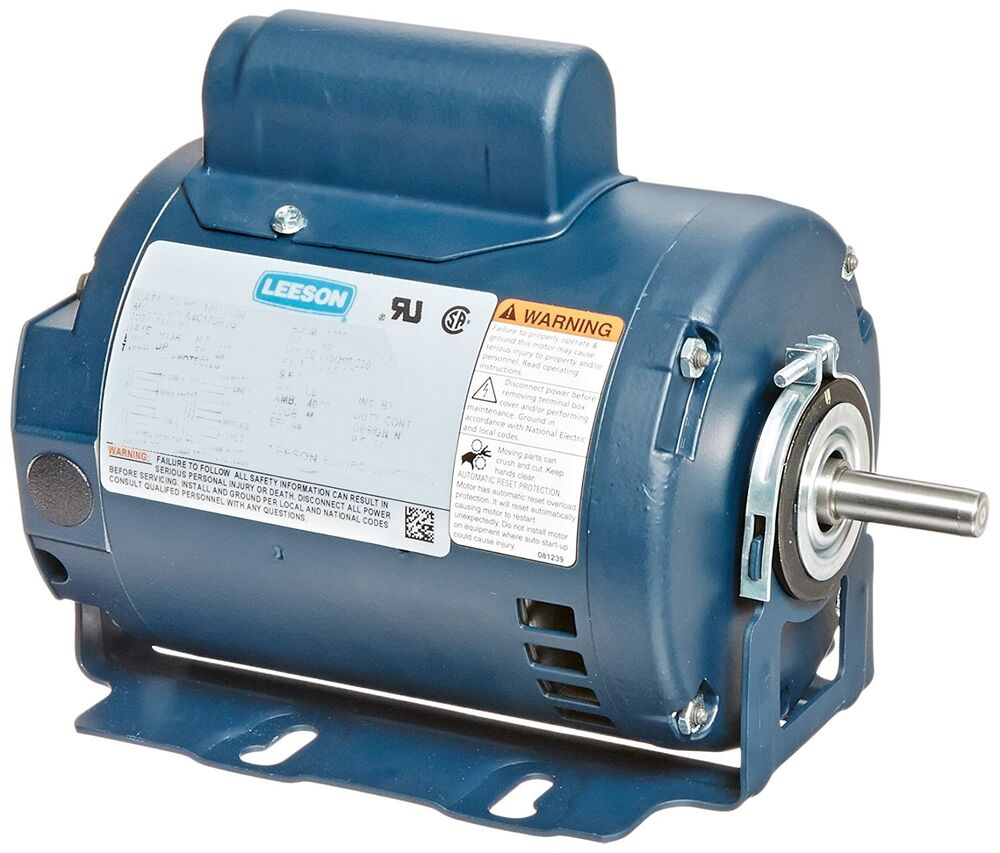 Leeson electric motor 3 4 hp 3450 rpm 1 ph 115 for One horsepower electric motor