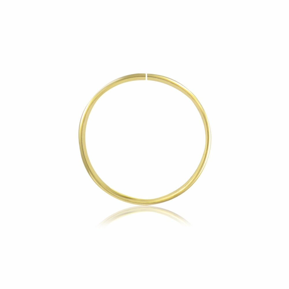 14k Solid Yellow Gold Nose Hoop Ring 20g 8 10mm Septum Lip Ear Cartilage Tragus Ebay