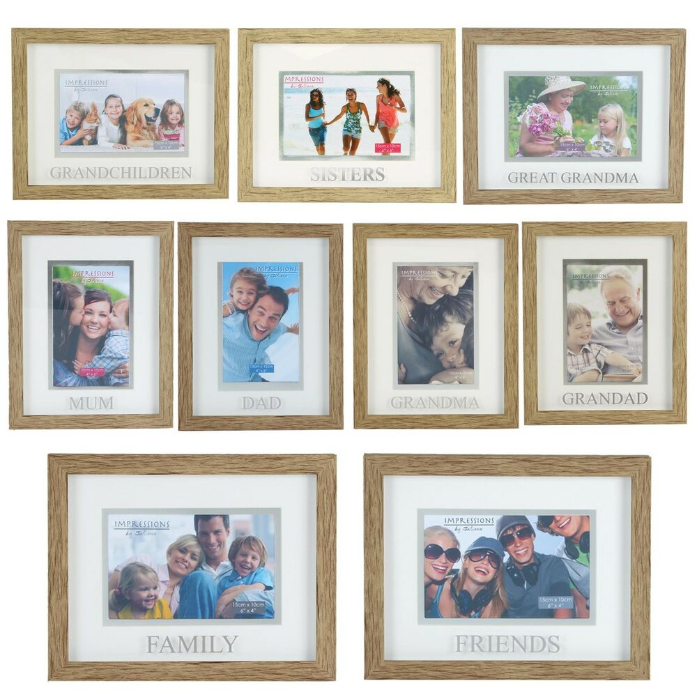 Juliana Natural Wood Effect Plastic Frame with Silver Word - Choose ...