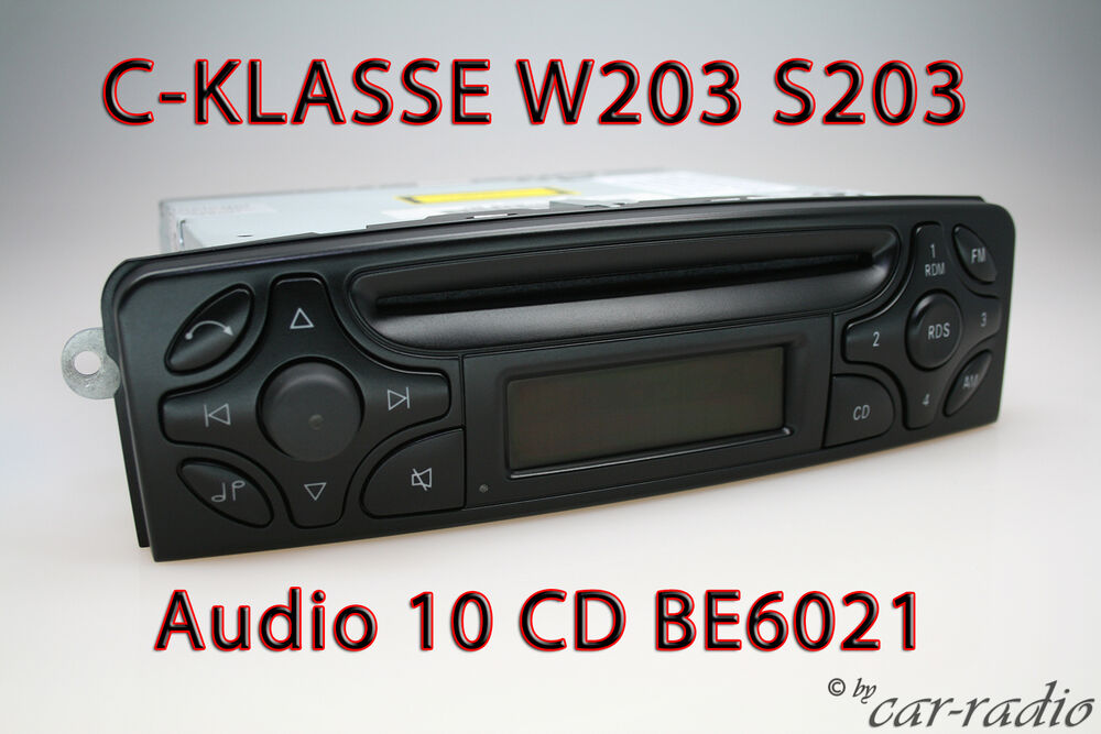 w203 radio mercedes audio 10 cd be6021 original c klasse. Black Bedroom Furniture Sets. Home Design Ideas