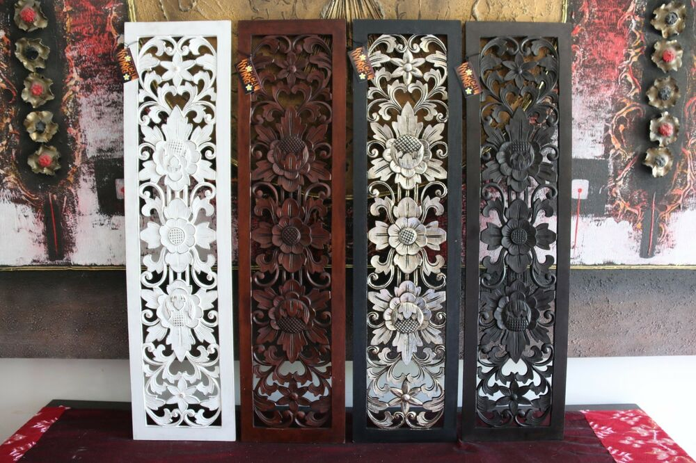 New balinese carved mdf wood wall panels bali art