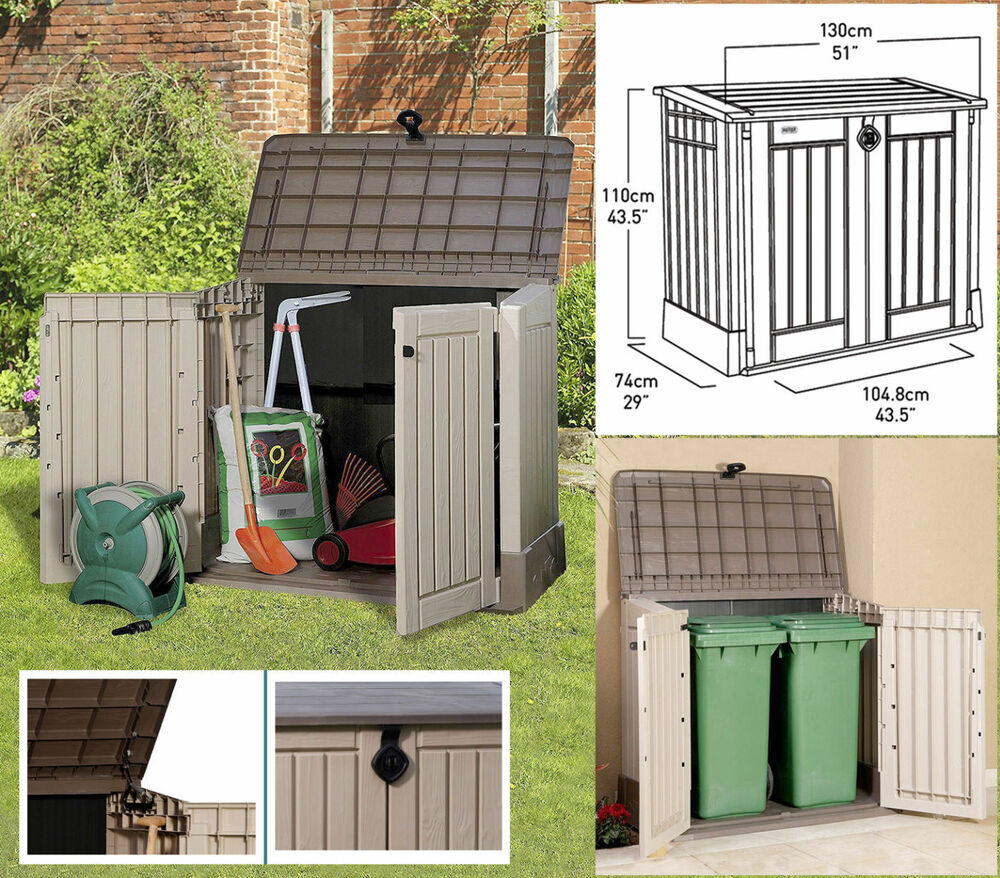 Large outdoor storage box garden patio shed pool yard for Large garden equipment