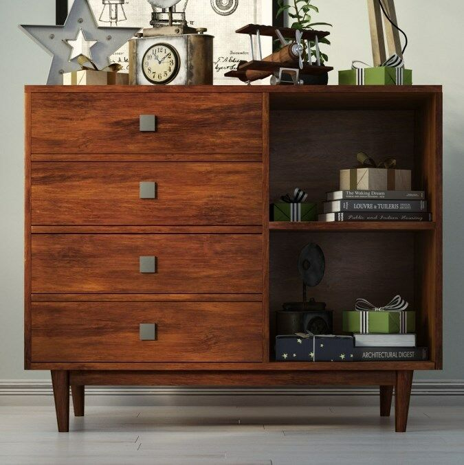 retro chest of drawers vintage danish sideboard industrial style large cabinet ebay. Black Bedroom Furniture Sets. Home Design Ideas