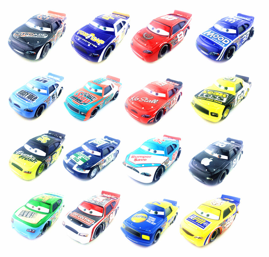 mattel disney pixar cars racers no 4 toy car 1 55 loose new in stock ebay. Black Bedroom Furniture Sets. Home Design Ideas