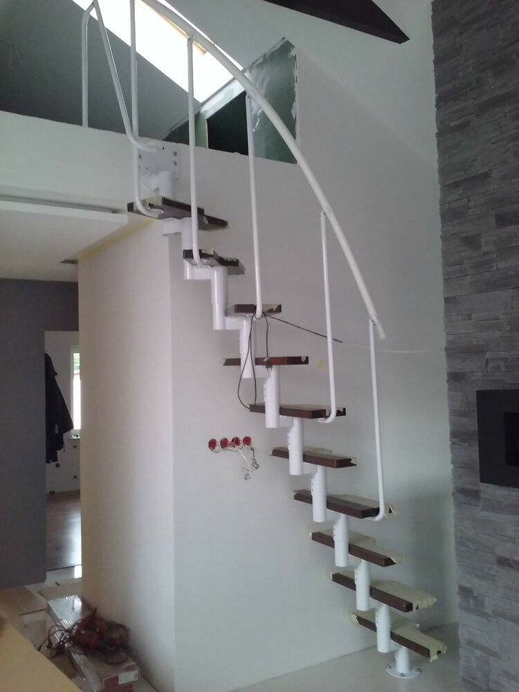 mini space saver spiral loft staircase kit white ebay