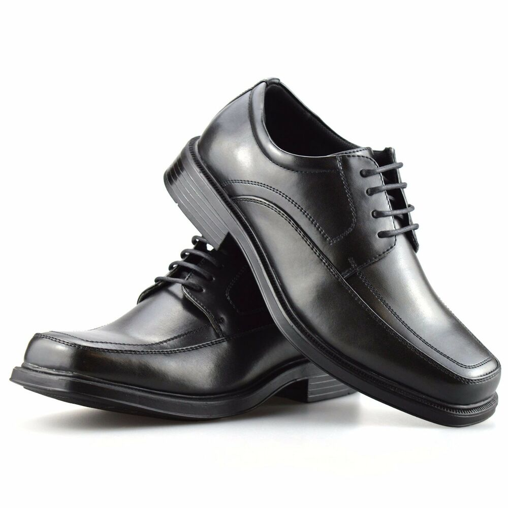 mens new wide fitting foam cushioned smart casual lace up