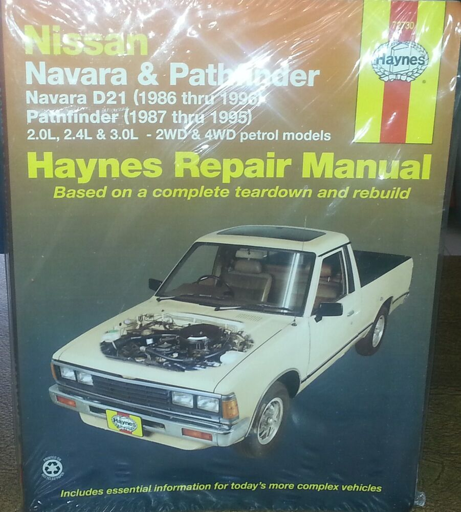 Nissan Navara/Pathfinder D21/WD21 1986-96 Workshop Manual with MPN HA72730  | eBay