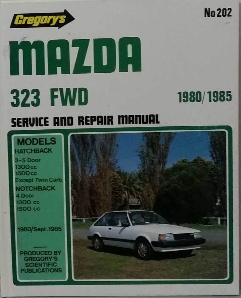 Mazda 323 FWD Workshop Repair Manual from 1980-1985 with MPN GR202   eBay