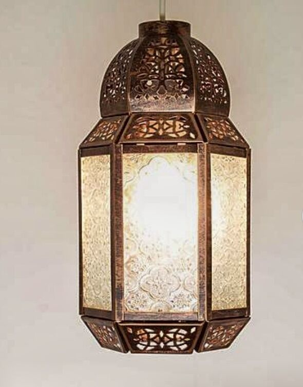 Moroccan Light Shade Lantern Style Ceiling Pendant Bronze