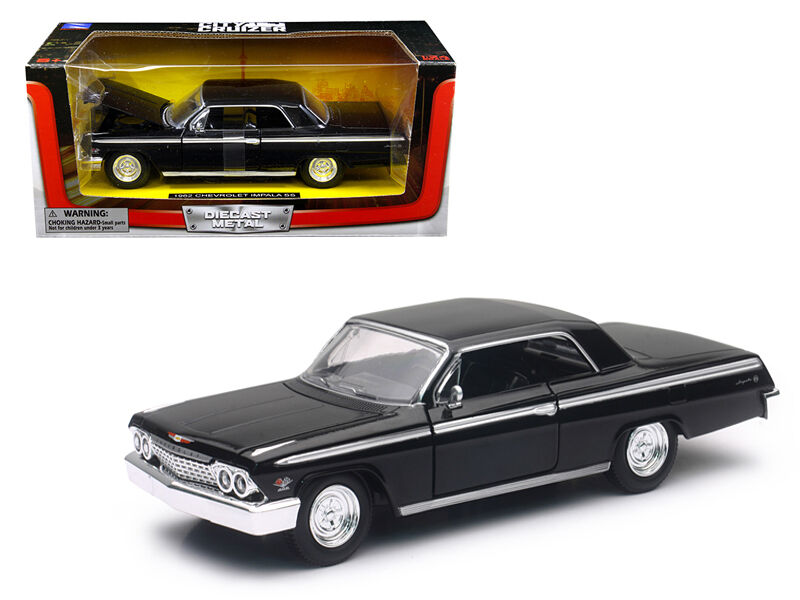 1962 chevrolet impala ss black 1 24 diecast model car by. Black Bedroom Furniture Sets. Home Design Ideas
