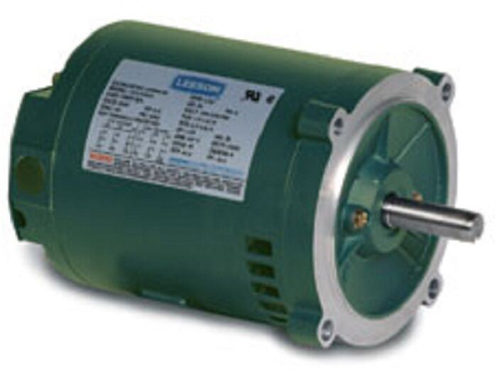 Leeson electric motor 1 2 hp 3600 rpm 3ph 230 for 1 2 hp ac motor