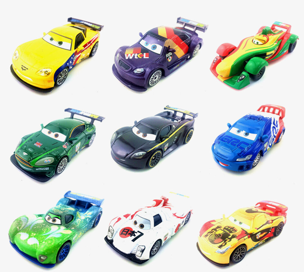 mattel disney pixar cars 2 racers u k u s a toy car 1 55. Black Bedroom Furniture Sets. Home Design Ideas