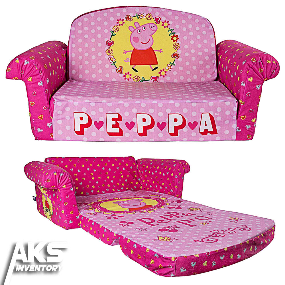 Peppa Pig Flip Open Sofa Convertable Couch Lounger Toddler ...