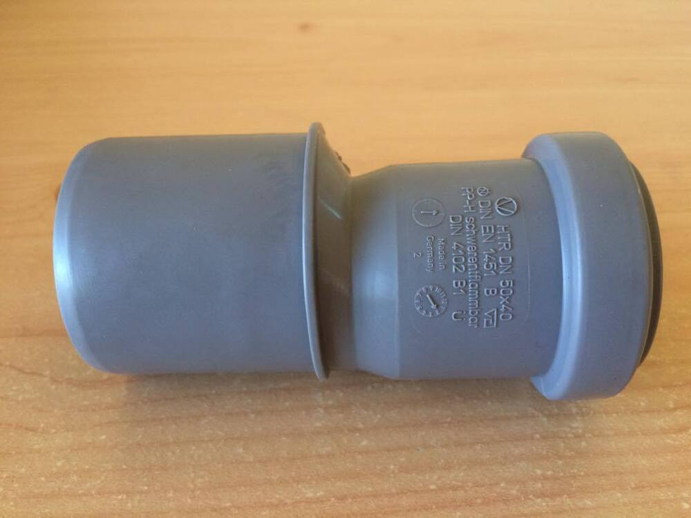 Sewer waste soil pipe offset reducer mm inlet push