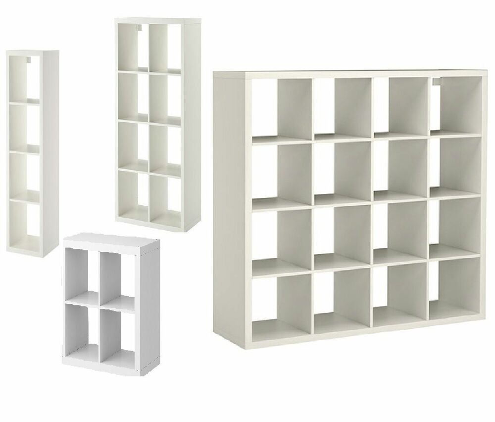 ikea kallax display unit shelf storage bookcase or shelving w drona box insert ebay. Black Bedroom Furniture Sets. Home Design Ideas