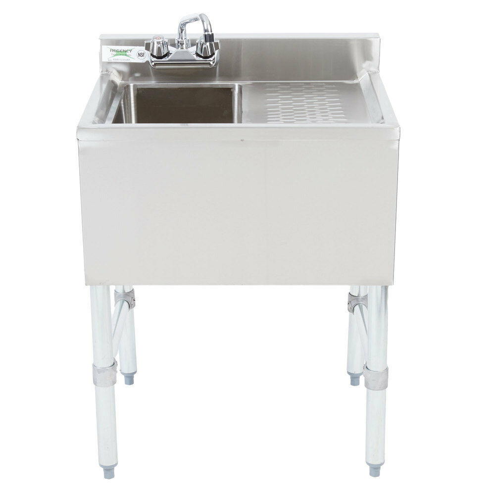 New 1 Bowl Underbar Stainless Steel Hand Wash Sink Right
