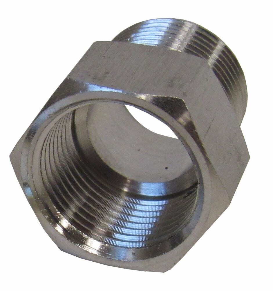 New stainless steel adapter quot npt male bspp