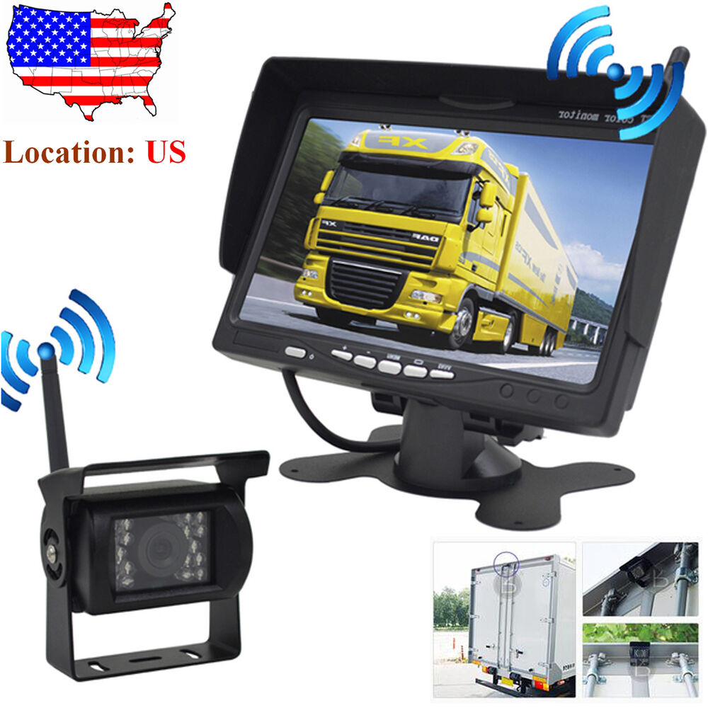 Rv Systems Monitor : Wireless ir rear view back up camera night vision system