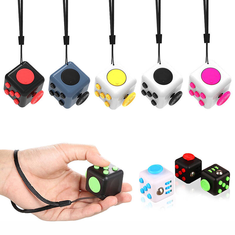 Toys For Adults For Stress : Colors fidget cube children desk toy adults stress