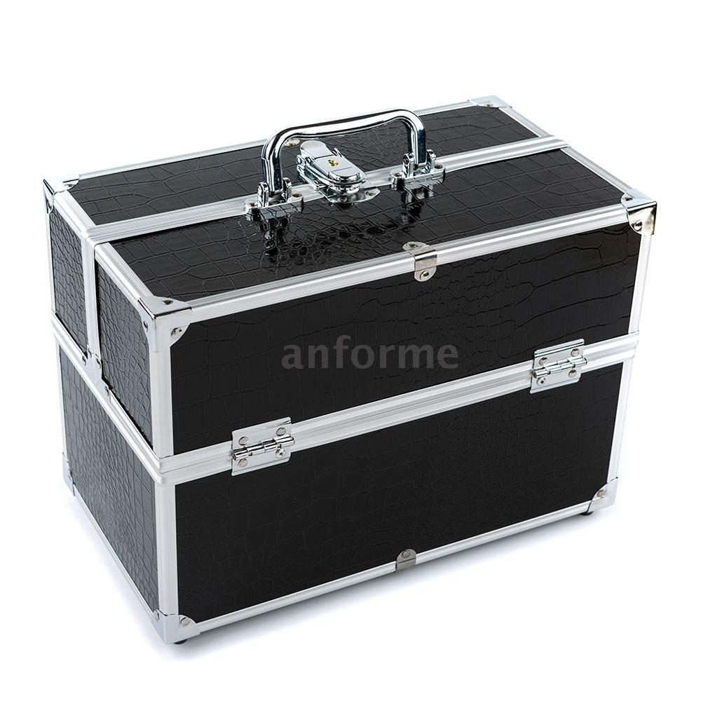 Lockable Beauty Cosmetic Organizer Box Makeup Case