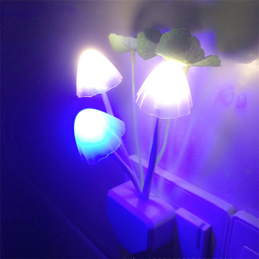 Led Wall Night Lights Mushroom Sensor Lamp For Baby Kids
