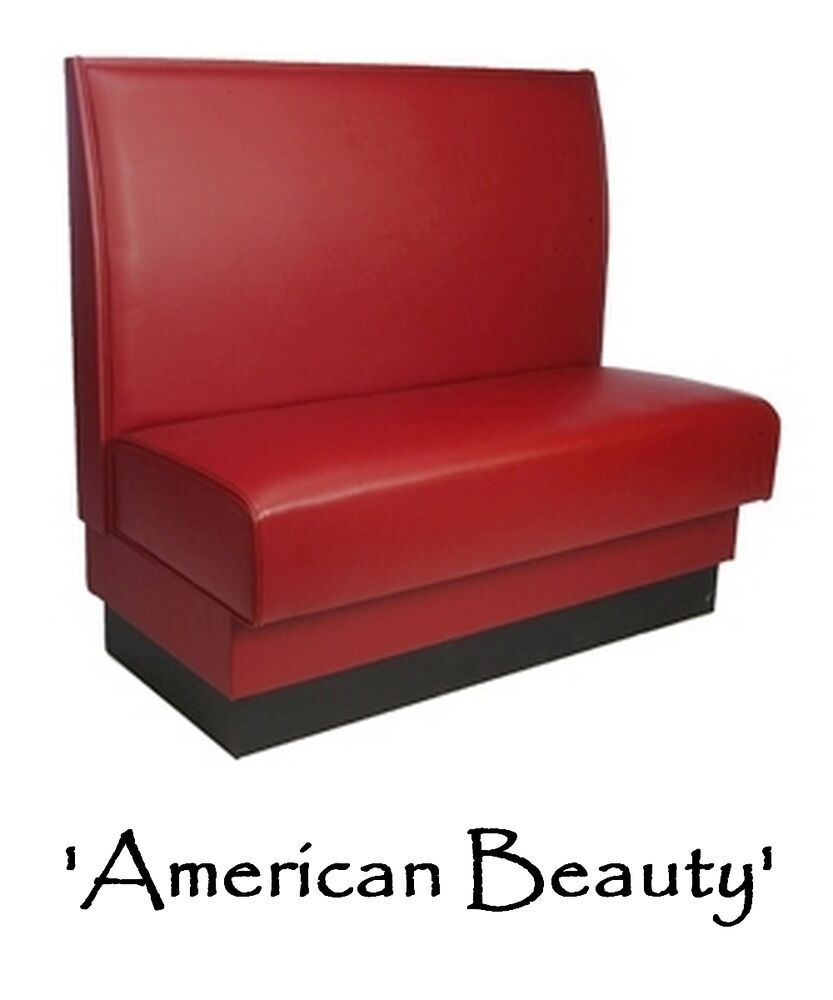 Restaurant Booth American Beauty Red Custom Color Diner