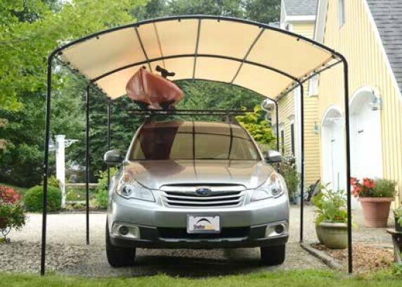 Garage Canopy Attachments : Shelterlogic monarc canopy carport portable garage
