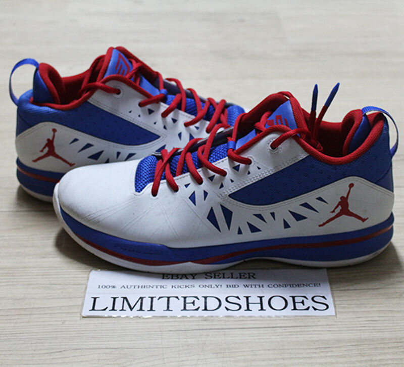 on sale 087ac e9c7e Details about NIKE AIR JORDAN CP3.V 5 PLAYOFF CHRIS PAUL WHITE RED  487428-101 US 11 grey yotd