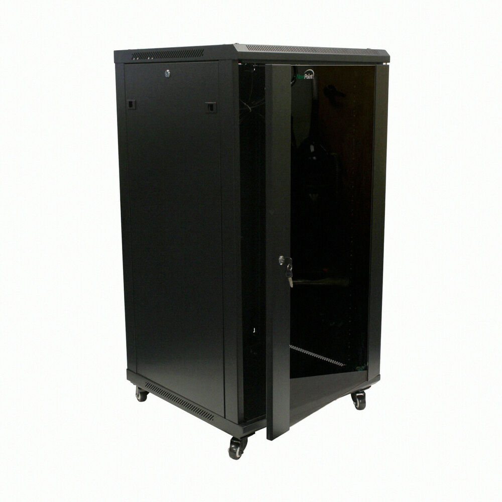 Rack Mount Enclosures : U wall mount network server cabinet rack enclosure glass