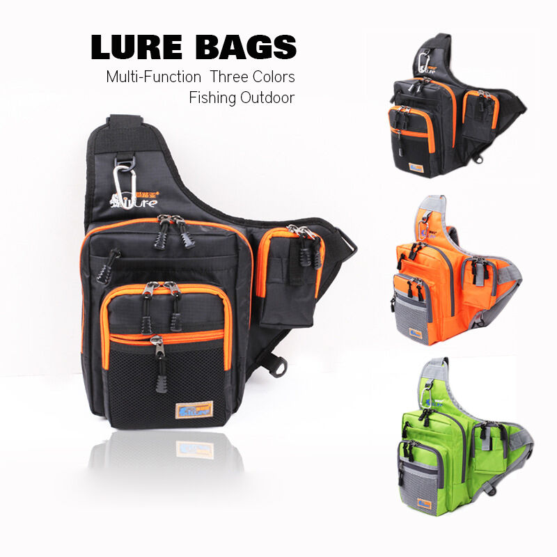Fishing lure tackle bags sling pack backpack waist for Fishing backpack tackle bag