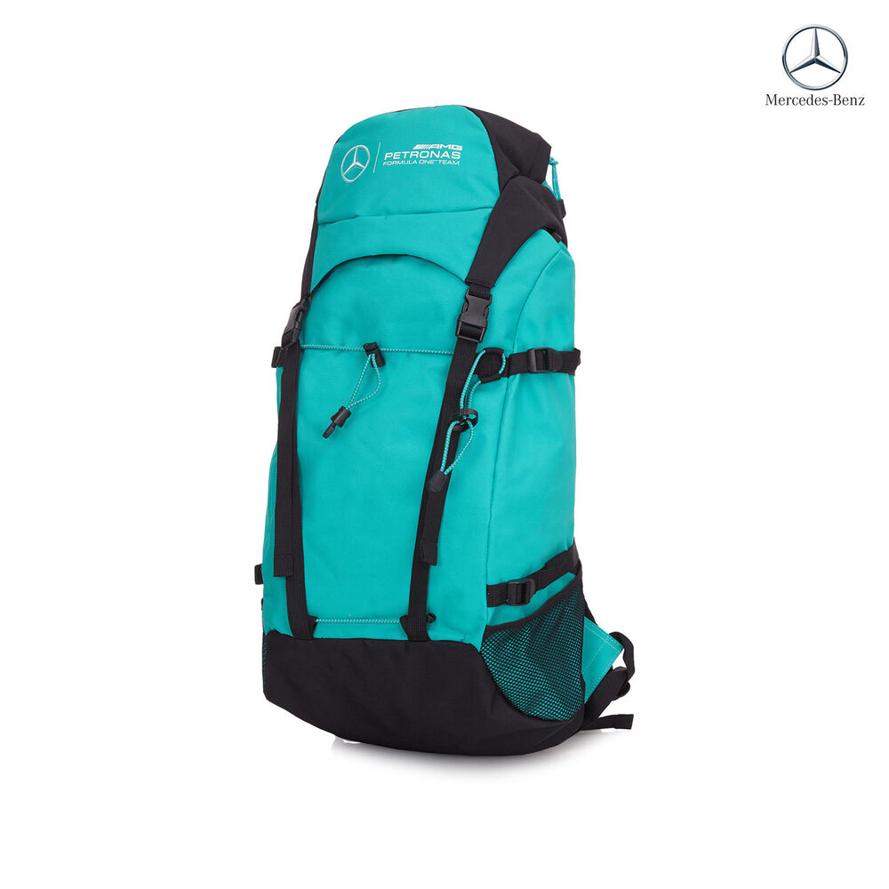 2016 mercedes amg petronas f1 team backpack green new ebay for Mercedes benz backpack