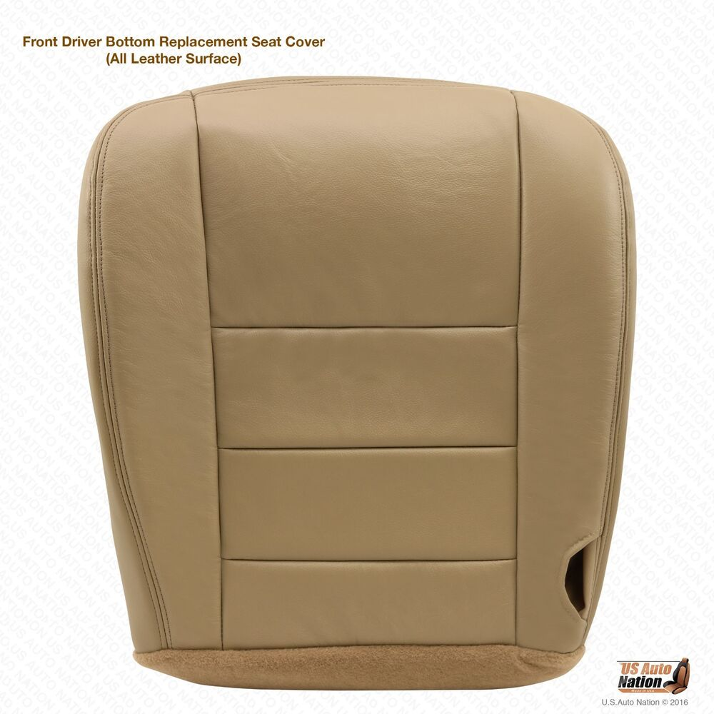 2004 ford f250 super duty lariat driver bottom leather seat cover parchment tan 718610495368 ebay. Black Bedroom Furniture Sets. Home Design Ideas