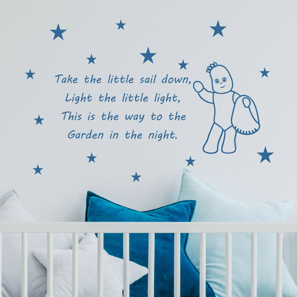 Items in top wall stickers shop on ebay iggle piggle in the night garden wall quote sticker decal kids bedroom wqb55 amipublicfo Images