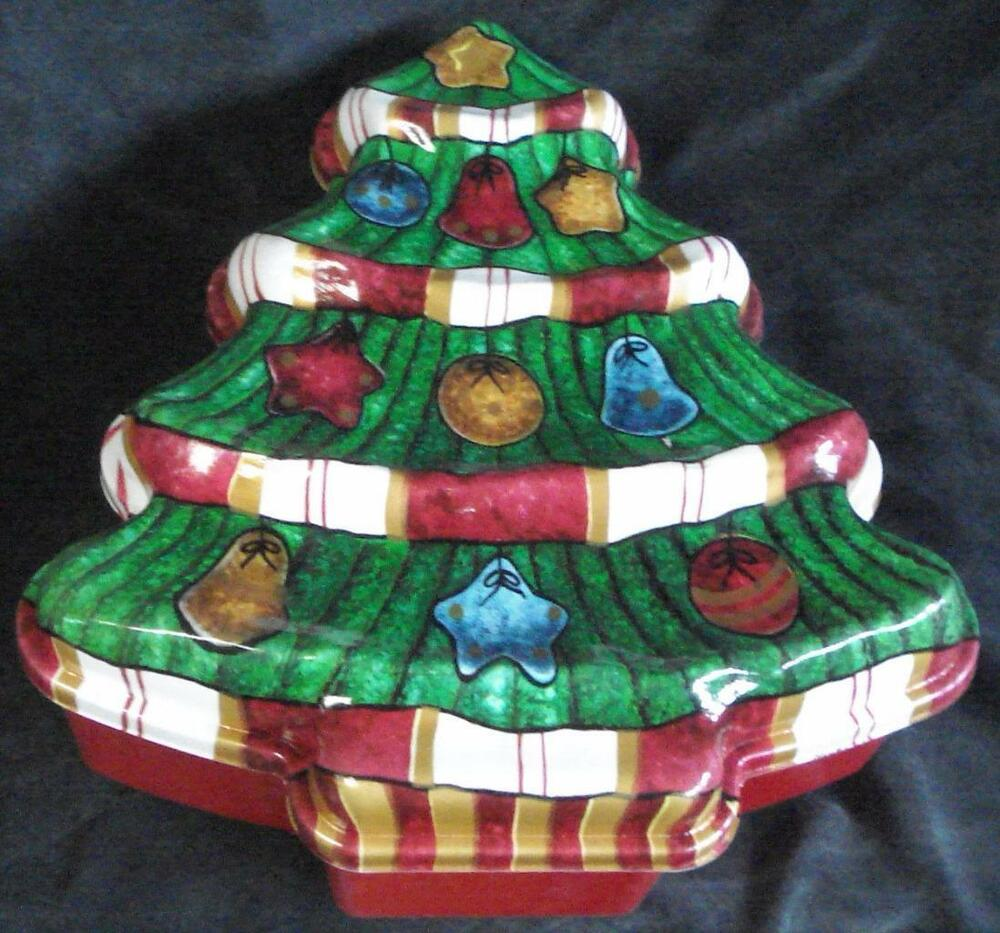 Gently Used Plastic Christmas Tree Cookie Box Vgc Festive And Durable Ebay