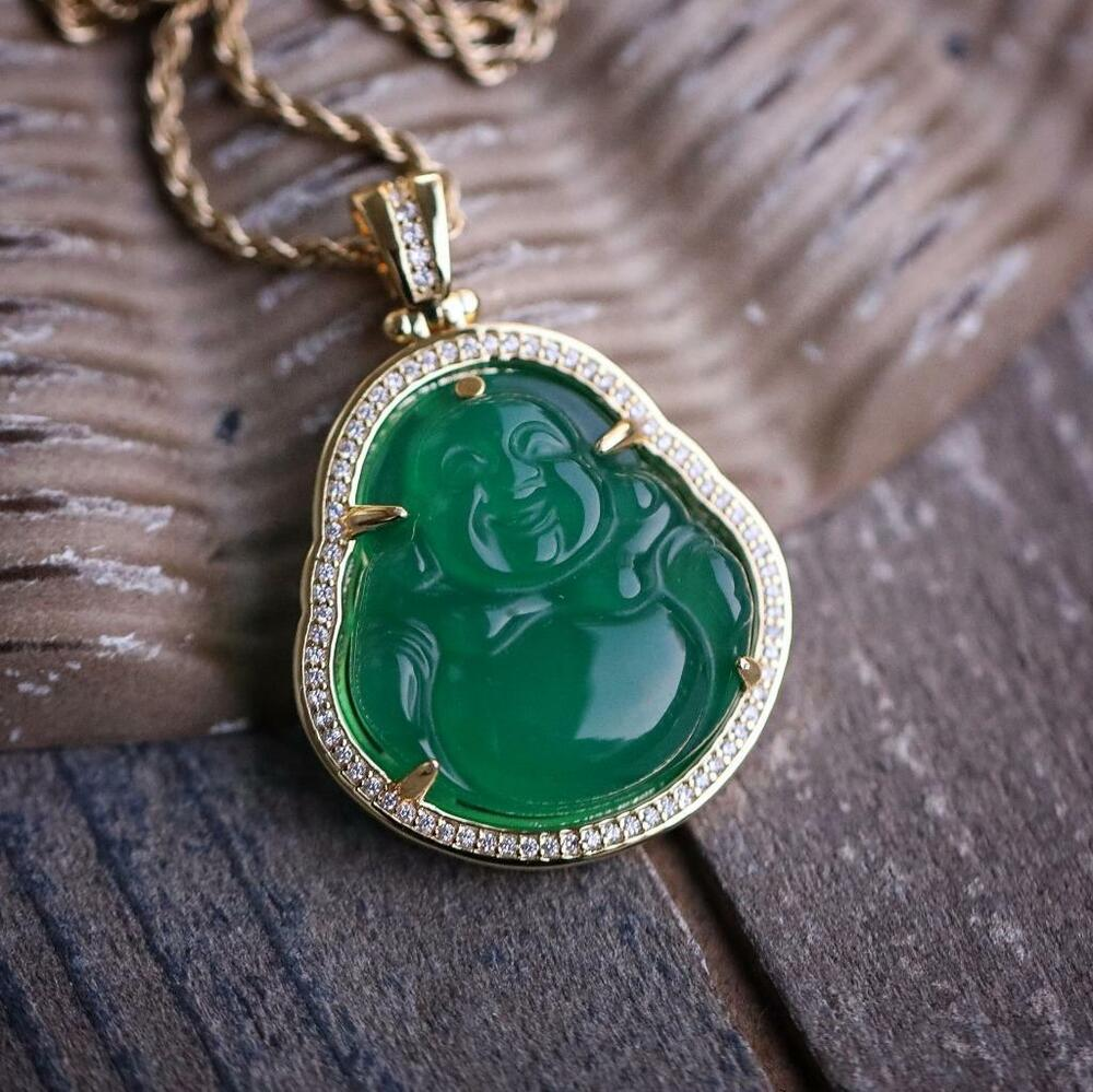 necklace ring green on imperial store leather jade chinese