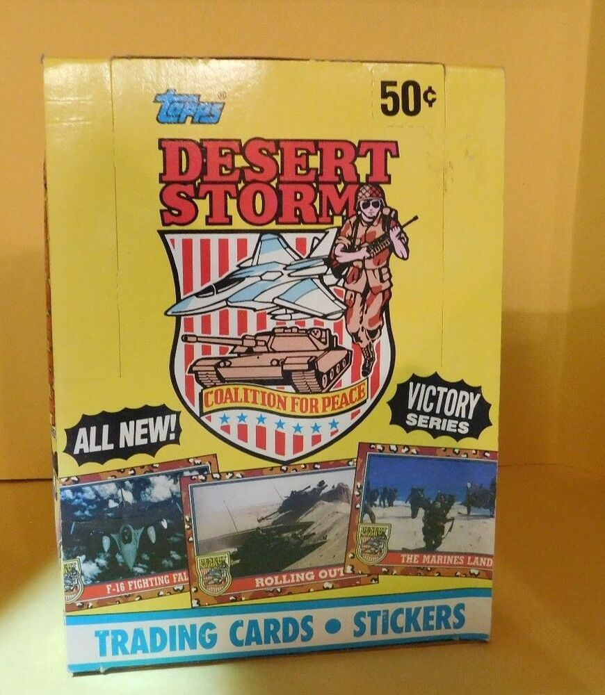 Vintage 1991-Topps Desert Storm Victory Trading Cards Series 2 Wax Box | eBay