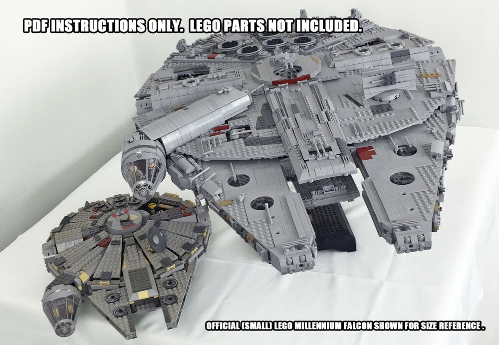 instructions only custom ucs lego millennium falcon star. Black Bedroom Furniture Sets. Home Design Ideas