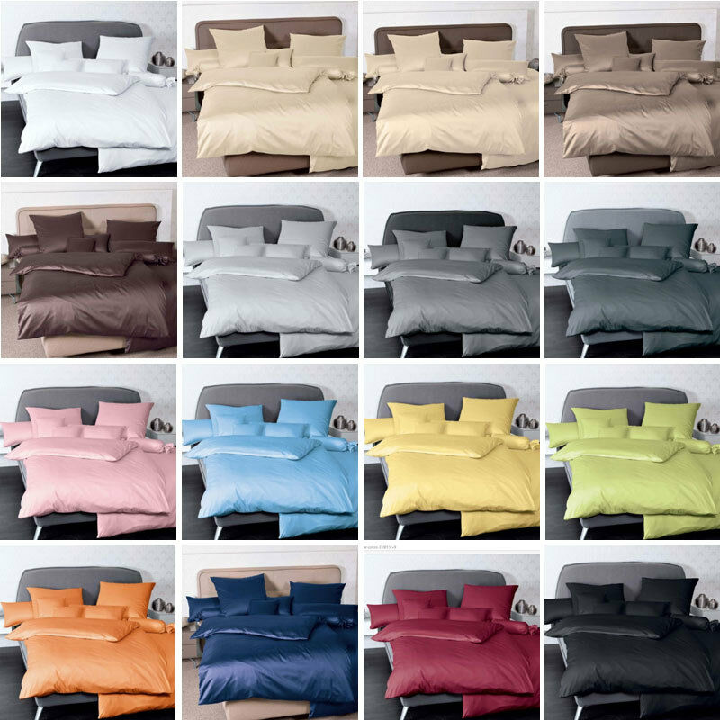 hochwertige janine mako satin bettw sche colors verschiedene gr en und farben ebay. Black Bedroom Furniture Sets. Home Design Ideas