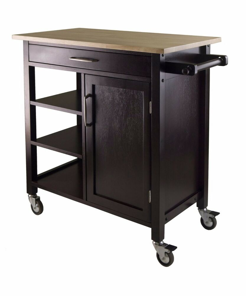 Kitchen Cart, Kitchen Island, Winsome, Portable Space
