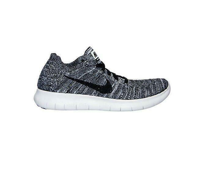 ee140f33b03c7 Details about Girls Juniors NIKE FREE RN FLYKNIT GS Black Running Trainers  834362 100
