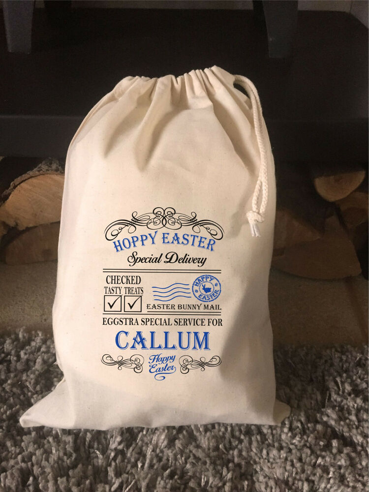 6b91727aa87 Details about Personalised Hoppy Easter Gift Bag - Callum Design Various  Sizes Available