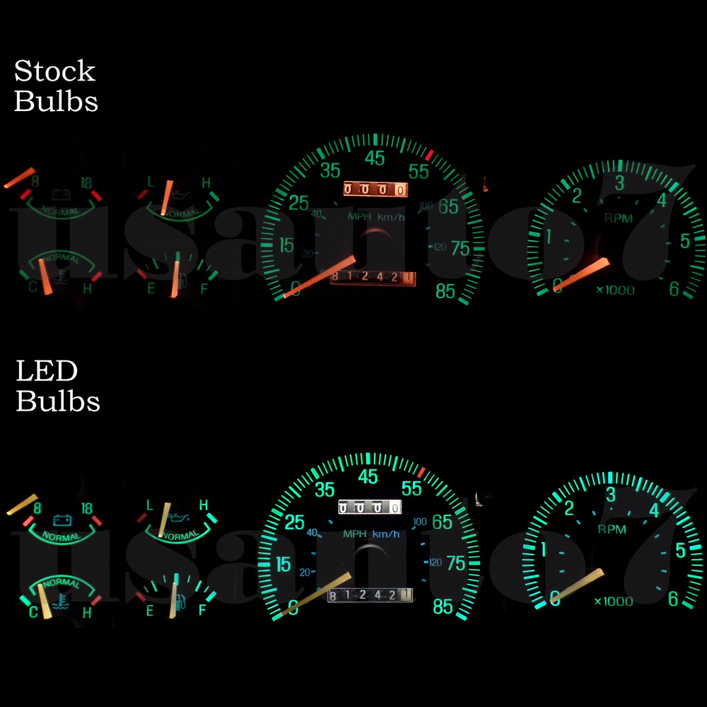 New Dash Instrument Cluster Gauge White Led Lights Kit Fits 87 91 1955 Ford F100 Pick Up F150 F250 Ebay