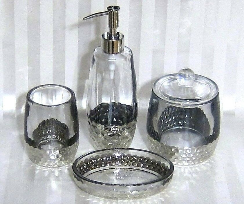 bathroom vanity accessory sets thick glass silver glazed bathroom vanity 535